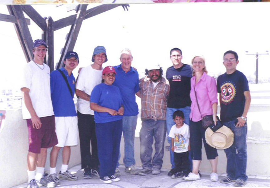 James Hubbell maria Elena and Volunteers Mexico Oct 2003